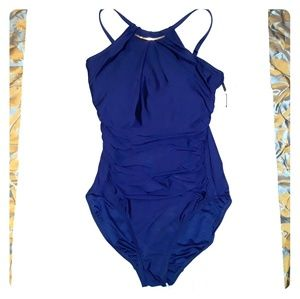 *NWT* Calvin Klein one pc bathing suit in navy sz8